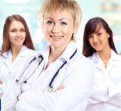 group of smiling hospital colleagues Royalty Free Stock Images