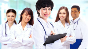 Group of smiling hospital colleagues Royalty Free Stock Photo
