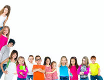 Group of smiling kids Royalty Free Stock Images