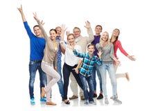 Group of smiling people having fun Royalty Free Stock Image