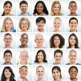 Group of Smiling People in a Row Royalty Free Stock Image