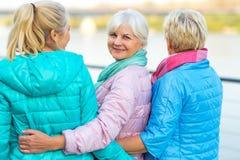 Group of senior women smiling Stock Photos