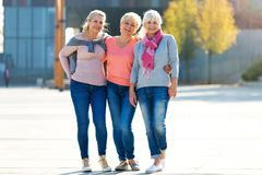 Group of senior women smiling Stock Images