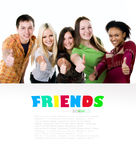 Group of smiling students royalty free stock photography
