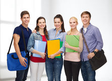 Group of smiling students standing Royalty Free Stock Images