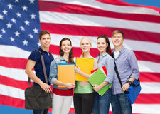 Group of smiling students standing Royalty Free Stock Image
