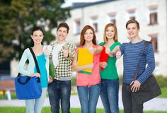 Group of smiling students standing Royalty Free Stock Photo