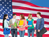 Group of smiling students standing Royalty Free Stock Photography