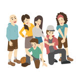Group of smiling teenage students Stock Photos