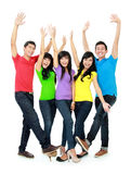 Group of smiling teenagers Royalty Free Stock Photography