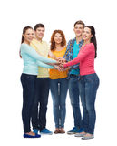 Group of smiling teenagers Royalty Free Stock Photo