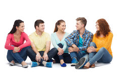 Group of smiling teenagers Stock Photos