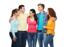 Group of smiling teenagers Stock Image