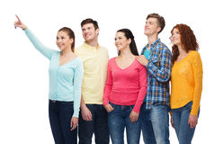 Group of smiling teenagers Stock Photography