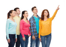 Group of smiling teenagers Stock Photo