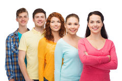 Group of smiling teenagers Royalty Free Stock Images