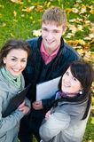 Group of smiling young students Royalty Free Stock Images
