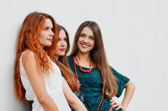 Group of smling Girlfriends Royalty Free Stock Images