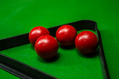 Group of Snooker ball on green table background. Royalty Free Stock Photography