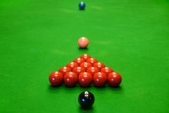 Group of Snooker Balls on Table Royalty Free Stock Photography