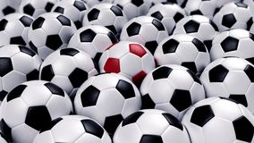Group of soccer balls Royalty Free Stock Photography