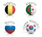 Group of soccer balls Stock Photos