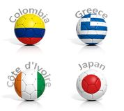 Group of soccer balls Stock Image