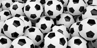 Group of soccer balls Stock Images