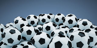 Group of soccer balls Royalty Free Stock Photos