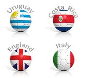 Group of soccer balls Stock Photos