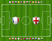 Group a in soccer Stock Images