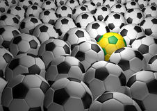Group of soccer 2014. Soccer moment of 2014 at Brazil Stock Image