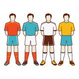 A group of soccer players #1 of 2 Royalty Free Stock Images