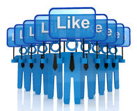 Group social media networks Stock Photos