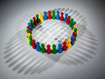 Group of social network figures Stock Photo