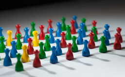 Group of social network figures Royalty Free Stock Images