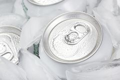A group of soda cans Royalty Free Stock Images