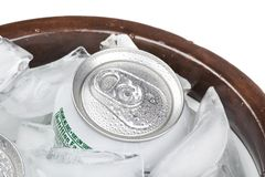 A group of soda cans Stock Photos