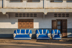Group of sofas in the street. Madagascar Royalty Free Stock Photo
