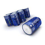 Group of solar charged batteries Stock Images