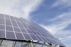 Group of Solar Panel Modules Royalty Free Stock Image