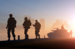 A group of soldiers Royalty Free Stock Photography