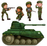 A group of soldiers Royalty Free Stock Images