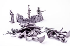 A group of soldiers toy Stock Images