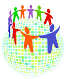 Group solidarity colorful Royalty Free Stock Photo