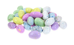 Group Speckled Candy Eggs Royalty Free Stock Images