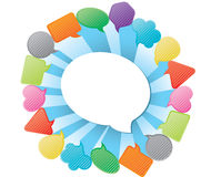 Group speech bubble Royalty Free Stock Photo