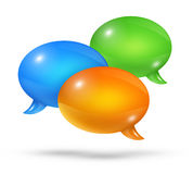 Group of speech bubbles Royalty Free Stock Photos