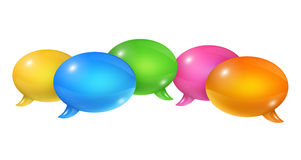 Group of speech bubbles Royalty Free Stock Photo