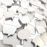 Group of speech text bubbles as abstract background Stock Photos